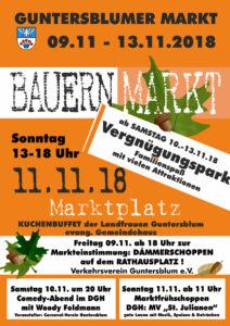 Plakat Bauernmarkt 2018